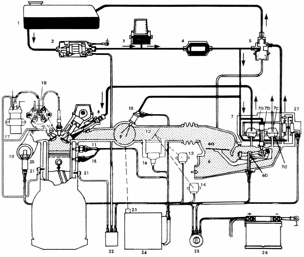 схема системы питания ауди 80 б3